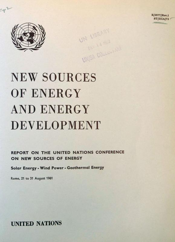 UN Conference on New Sources of Energy