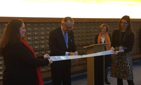 Jan Eliasson at the opening of the reading room