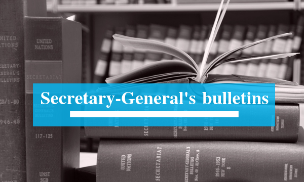 Secretary-General's bulletins