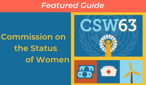 Commission on the Status of Women 2019 (CSW63)