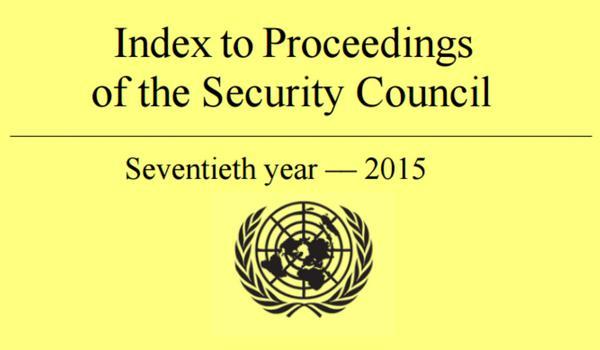 Index to Proceedings