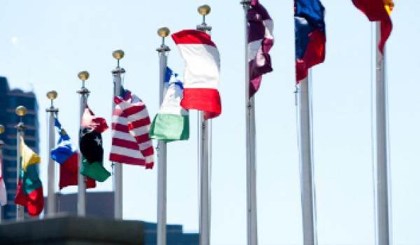 Flags at United Nations Headquarters